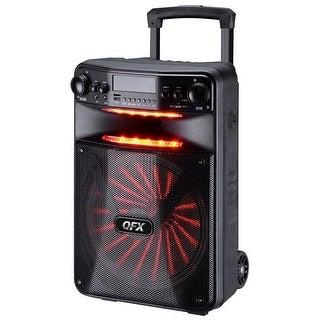 QFX 12 in. Smart App Controlled Party Speaker with New Light Effects