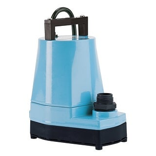 Little Giant 505176 1/6 HP 115V 1200 GPH UL/CSA Listed Submersible Utility Pump with 18ft. Cord - Steel - N/A