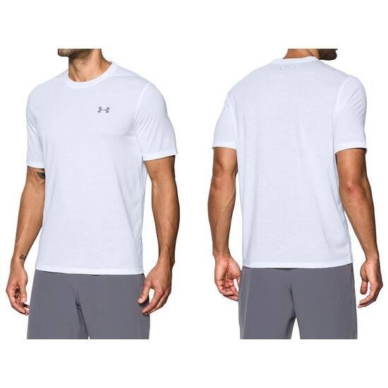 62ad8121 Men's Under Armour 1289583 UA Threadborne Siro Short Sleeve Shirt White 2X