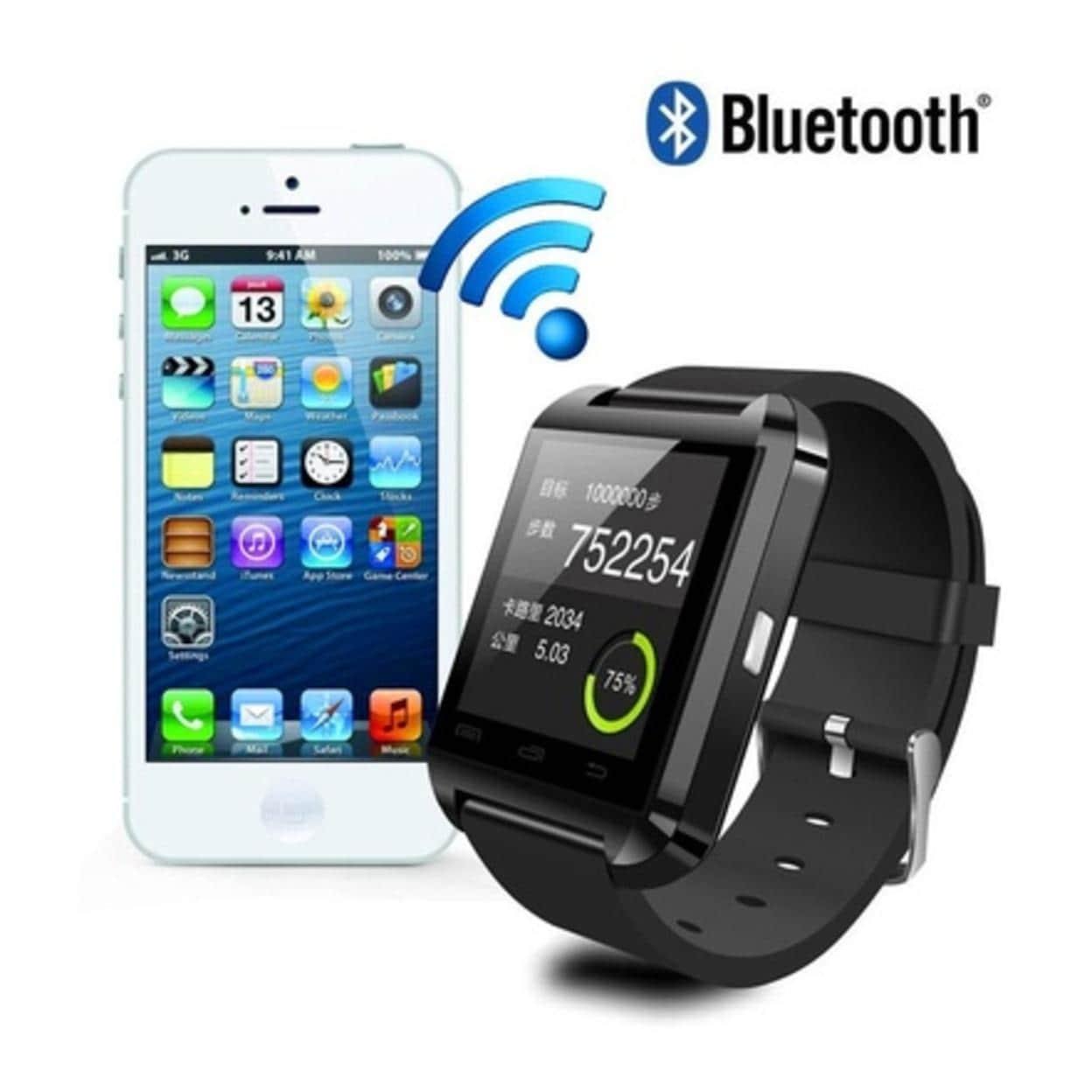045137673448b2 Shop U8 Bluetooth Smart Wrist Watch Phone Mate For all phone - Free ...