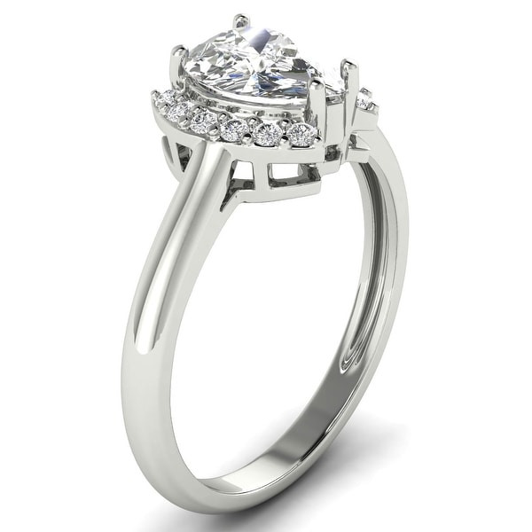 1.12 CT Round & Marquise Half Halo Diamond Engagement Ring 1 CT Center. Opens flyout.