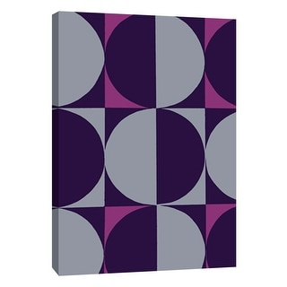 "PTM Images 9-108761  PTM Canvas Collection 10"" x 8"" - ""Monochrome Patterns 5 in Purple"" Giclee Abstract Art Print on Canvas"