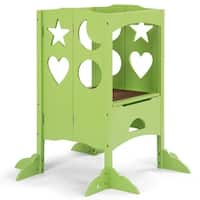 Gymax Folding Kids  Kitchen Counter Step Stool For Little Chef Green