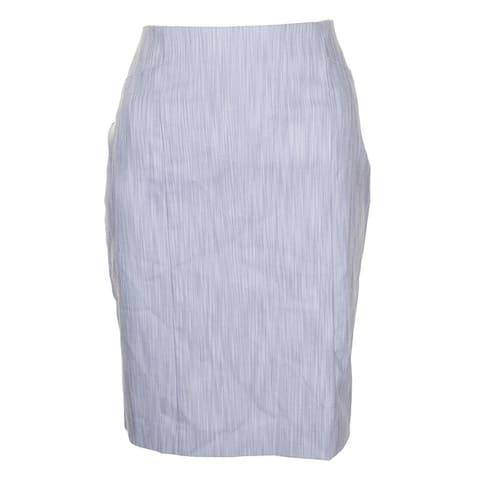 Alfani Grey White Jacquard Rivet Knee Length Skirt 8