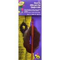 Daffodil - Wood Shawl Pin