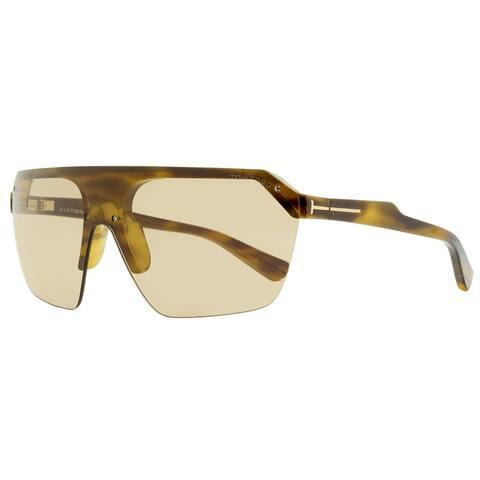 Tom Ford TF797 Razor 55E Unisex Anber Havana 0 mm Sunglasses - Anber Havana