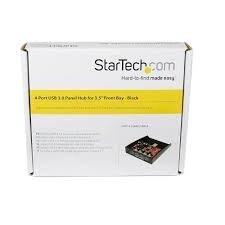Startech.Com Usb 3.0 Front Panel 4 Port Hub With 3.5/5.25-Inch Bay (35Bayusb3s4)