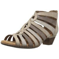Cobb Hill Womens Abbott Leather Open Toe Casual Strappy Sandals