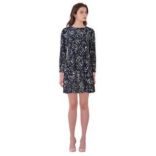 Lauren Ralph Lauren Petite Printed Long Sleeve Shift Dress - 8P