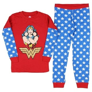 Intimo Girls' Wonder Woman Wonder Pose Pajama Set