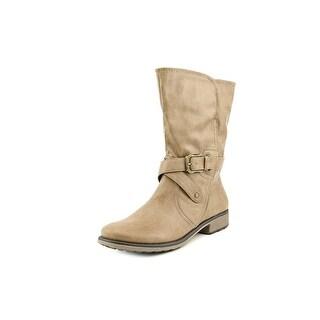 Baretraps Saldana Women Round Toe Synthetic Brown Mid Calf Boot