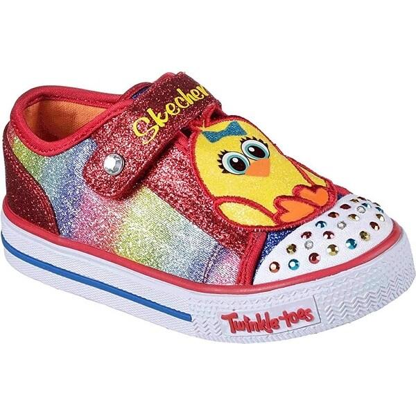 Shop Skechers Girls  Twinkle Toes Shuffles Chickadee Light Up  Sneaker 03a985cdae3d