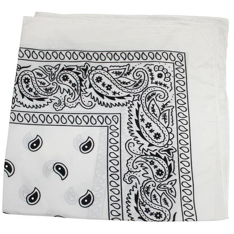 Pack of 6 Paisley 100% Cotton Bandanas Novelty Headwraps - 22 inches