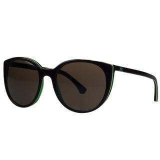 Emporio Armani EA4043 535/173 Brown/Green Round Sunglasses