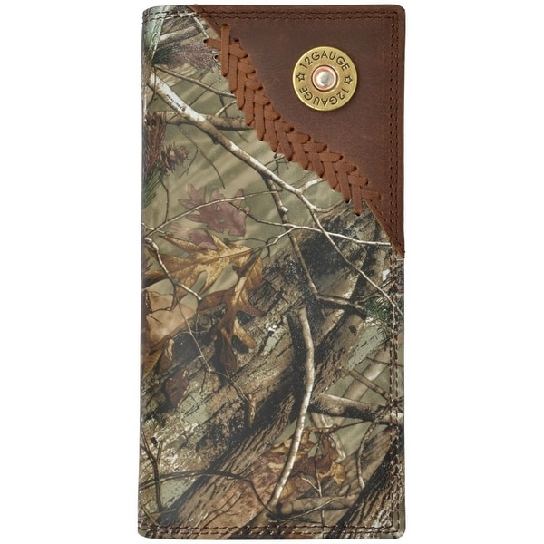Badger Western Wallet Mens Leather Rodeo Shotgun Conchos Camo - One size