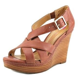 Elaine Turner Katrina Women Open Toe Leather Wedge Heel