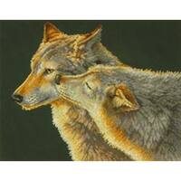 "Wolf Kiss Counted Cross Stitch Kit-14""X11"" 14 Count"