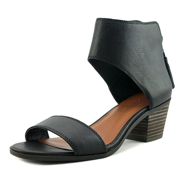 Lucky Brand Barbina Women Open Toe Leather Black Sandals