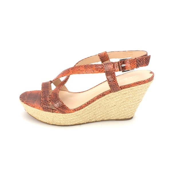 Via Spiga Womens Wendy Leather Open Toe Casual Espadrille Sandals - 8.5