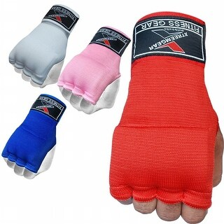 Training Boxing Inner Gloves Hand Wraps MMA Fist Protector Bandages Mitts G100-Red
