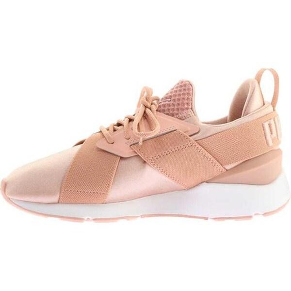 Shop PUMA Women's Muse Satin En Pointe Sneaker Peach Beige
