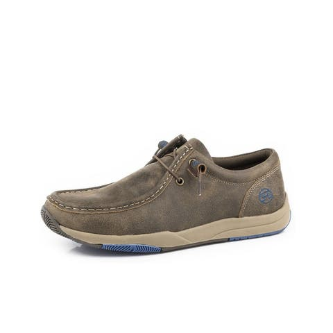 Roper Casual Shoes Mens Clearcut Lace Chukka Brown