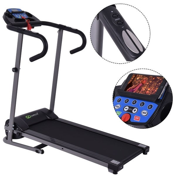 Costway 1100W Folding Treadmill Electric Support Motorized Power Running Fitness Machine