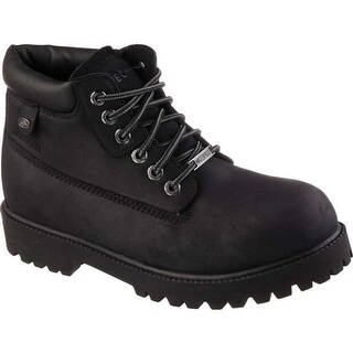 Skechers Men's Sergeants Verdict Rugged Ankle Boot Black Waterproof Oiled Smooth Leather
