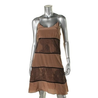 Catherine Malandrino Womens Silk Lace Overlay Party Dress - 4