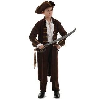 Underwraps Pirate Captain Child Costume (Brown) - Brown
