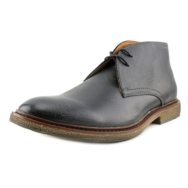 Tommy Hilfiger Clawson Men  Round Toe Leather Black Boot