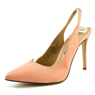 Penny Loves Kenny Obvious Women Pointed Toe Synthetic Orange Slingback Heel