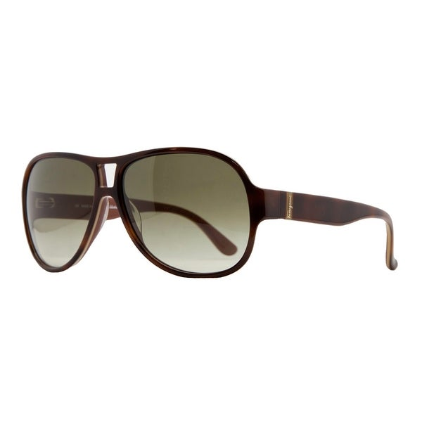 Salvatore Ferragamo SF 623/S 222 Light Havana Aviator Sunglasses - 59-13-135