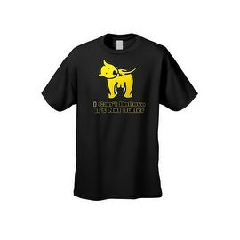 Men's Funny T-Shirt I Can't Believe It's Not Butter! Dog Licking Butt Adult Humor