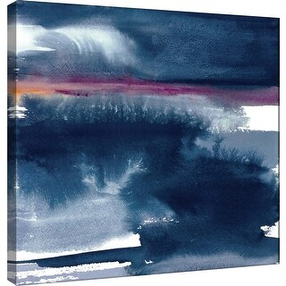 """PTM Images 9-100966  PTM Canvas Collection 12"""" x 12"""" - """"Indigo Sky II"""" Giclee Abstract Art Print on Canvas"""