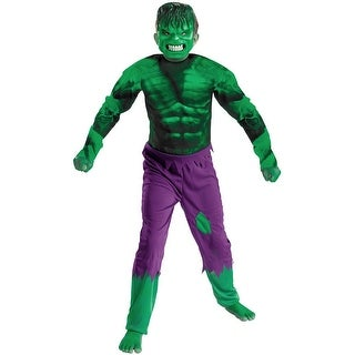 Disguise Hulk Classic Child Costume - Green - large (10-12)