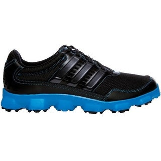 Adidas Men's Crossflex Sport Black/Black/Solar Blue Golf Shoes Q46672