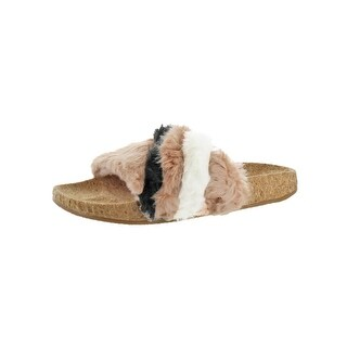 L4L by Lust for Life Womens Ace Slide Sandals Striped Cork