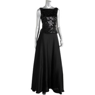 Aidan Mattox Womens Embellished Prom Semi-Formal Dress