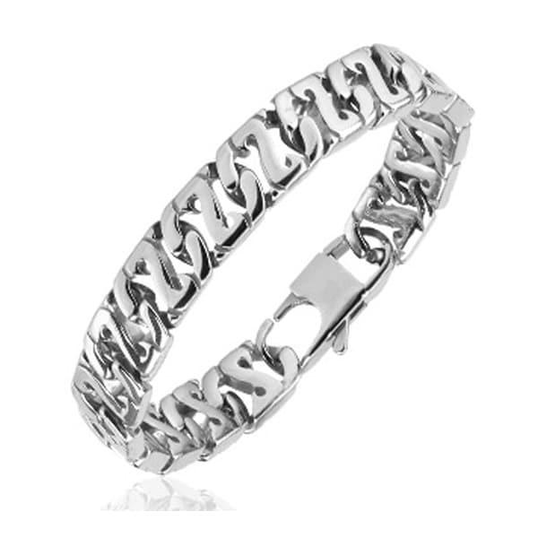 316L Steel Cast Flat Z - Link Bracelet (11.3 mm) - 8.5 in