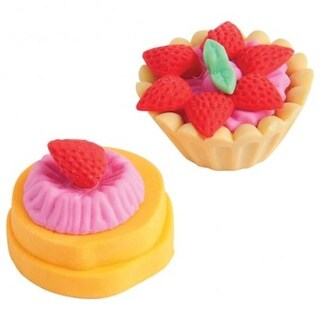 US Toy LM210X25 1.25 in. Dessert Erasers - 25 per Pack - Pack of 12