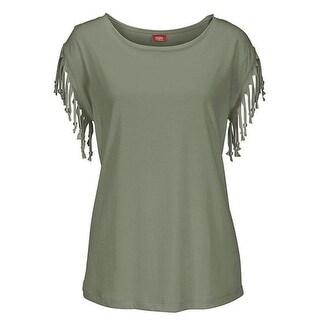 Tassel Sleeve Shirt Top