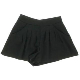 Aqua Womens Pleated Crepe Casual Shorts