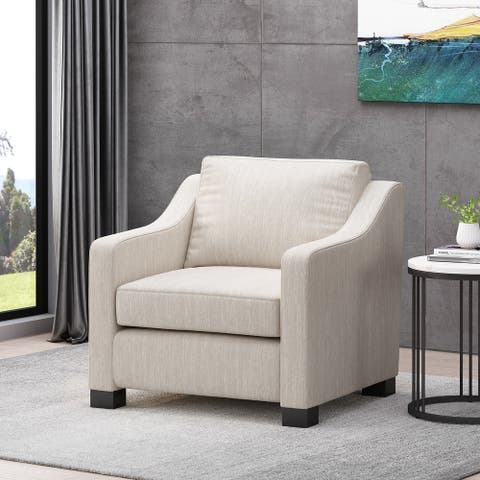 Halevy Contemporary Fabric Club Chair by Christopher Knight Home