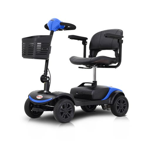 4 Wheels Electric Powered Wheelchair Compact Mobility Scooter