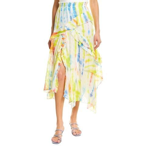 Tanya Taylor Teresa Silk Midi Skirt