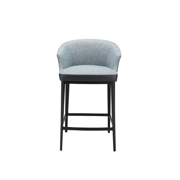 Moes Home Collection EJ 1028 Beckett 33 3/4 Inch Tall Steel Kitchen Stool