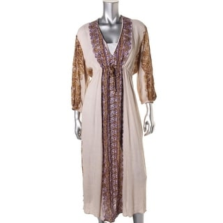 Free People Womens Mid-Calf Boho Casual Dress