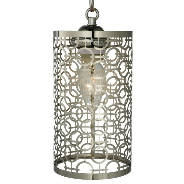 "Meyda Tiffany 126758 Deco 1 Light 5"" Wide Hand-Crafted Pendant with Stained Glas"