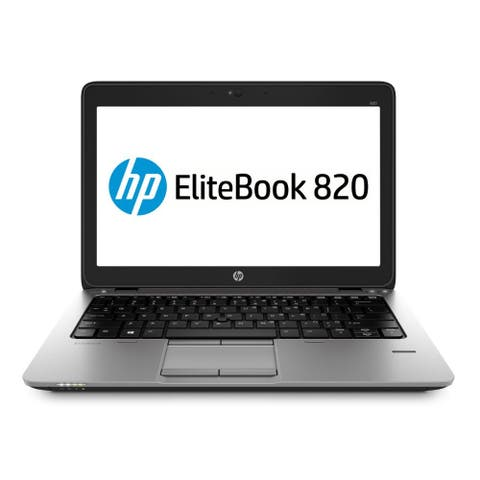 HP Elitebook 820 G2 12.5-in Refurb Laptop - Intel Core i5 5300U 5th Gen 2.3 GHz 8GB 256GB SSD Windows 10 Pro 64-Bit - Webcam